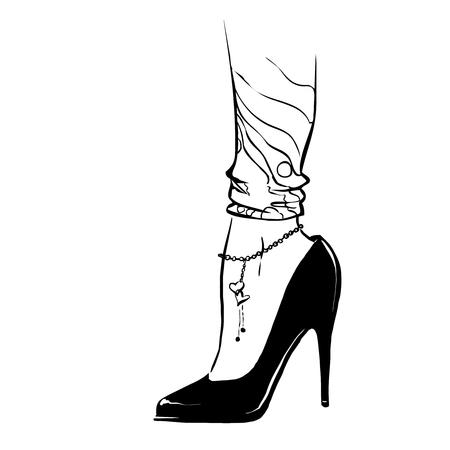 Court Shoe Vettoriali, Illustrazioni E Clipart
