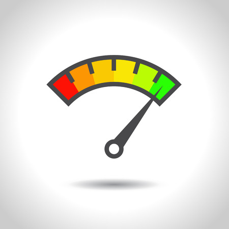 colorful speedometer