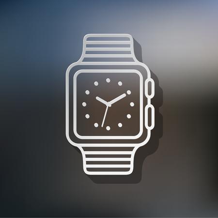 watch  illustration. wrist. icon