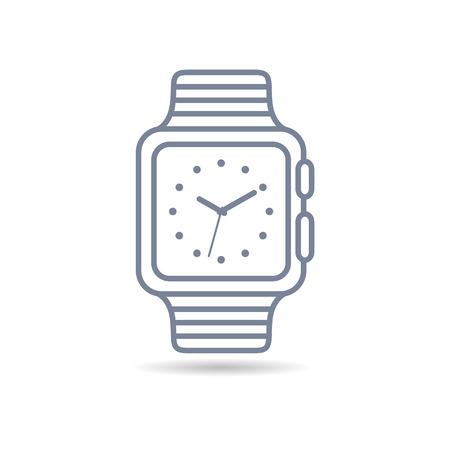 watch vector illustration. wrist. icon. White background Ilustração
