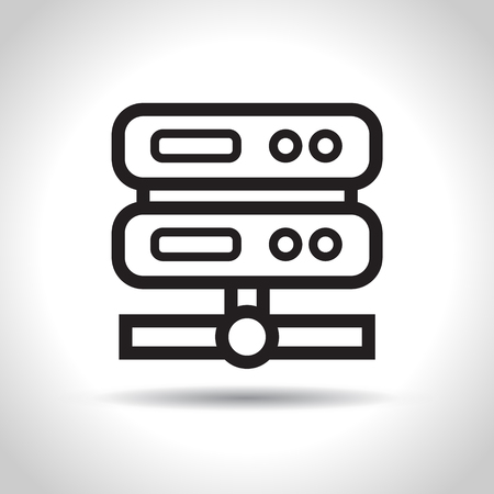 gigabyte: Computer server icon. Flat design, vector illustration. Illustration