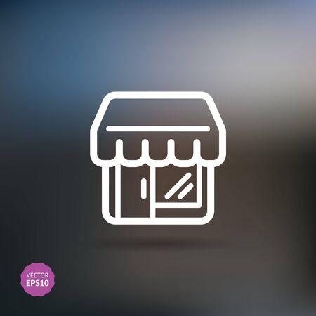 Shop  store, supermarket building vector icon. Flat style. Illustration
