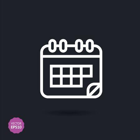 Calendar icon, vector illustration. Flat design style.