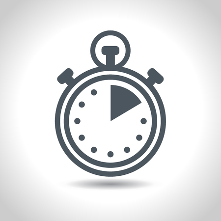 Stopwatch, clock icon. Vector pictogramm on white background. Flat design