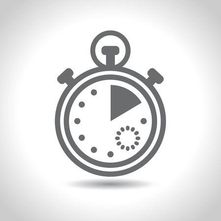 Stopwatch icon. Vector. Flat design