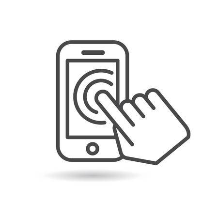 touch: Touch screen icon. Vector