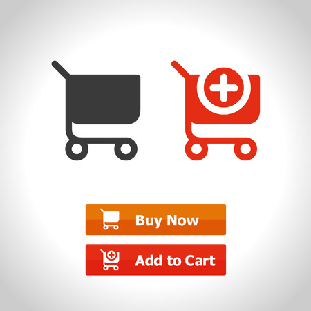 shopping cart button. web icon. computer generated illustration. with buttons Buy Now and Add to Cart.