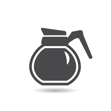 contemporary taste: Coffee Pot Icon. Vector, Flat style Illustration
