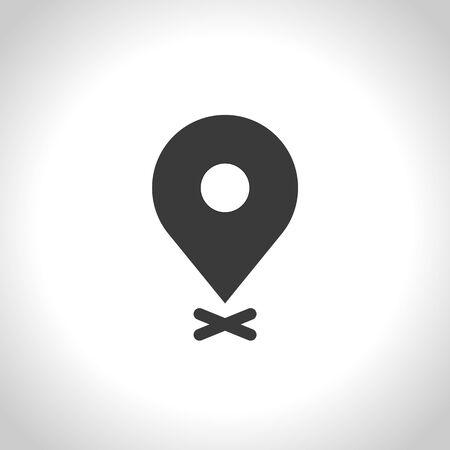 map pin icon. vector