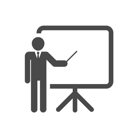 demonstrate: Training, presentation and education icon. Vector Illustration.