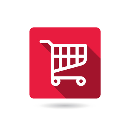 shopping cart button. web icon. computer generated illustration Illustration