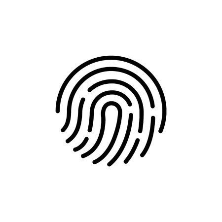 Fingerprint icon.Symbol for graphic and web design. flat vector illustration, eps10.