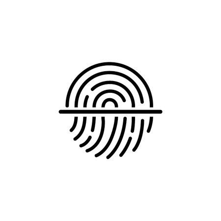 Scaner Fingerprint icon.Symbol for graphic and web design. flat vector illustration. Banque d'images - 100702938