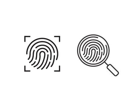 ScanerFingerprint icon.Symbol for graphic and web design. flat vector illustration. Banque d'images - 100702937
