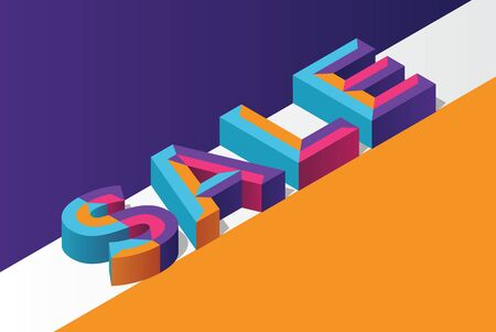Isometric 3D sale background, colorful polygonal triangle object. Eps10 Vector. Foto de archivo - 133829938