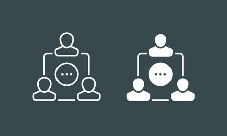 Team icons vector set. Group of people icons isolated. Business team icons collection. black silhouettes simple. Team icons in flat style. Standard-Bild - 132122153