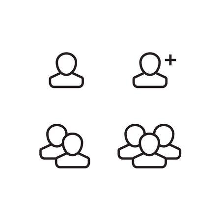 User Profile Group Set Icon Symbol. Vector