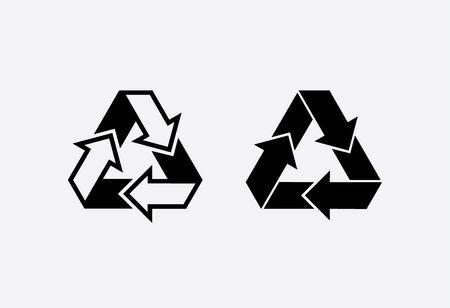 Eco recycle icon. Vector. Arrow triangle. Green triangular Stock fotó - 132122195