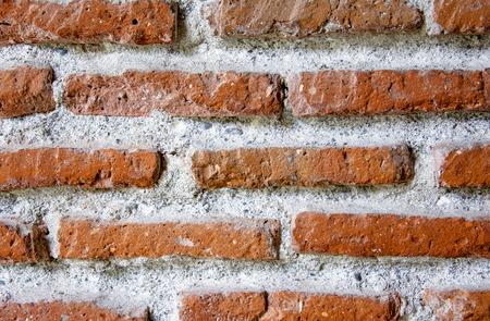Textur der alten Mauer aus rotem Backstein.