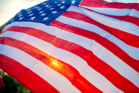 Veterans Day Flag Of The United States Of America. American flag flying. Stock fotó