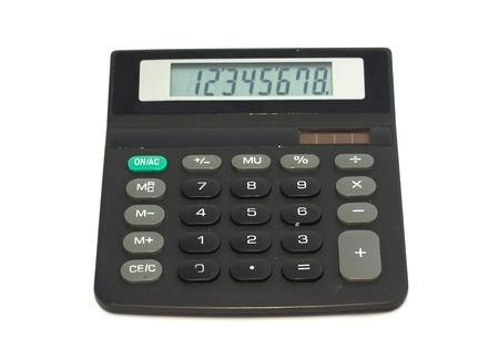 teclado num�rico: Calculadora sobre un fondo blanco Foto de archivo