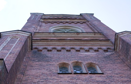 neogothic: View of the Church of Loviisa, Finland at summer