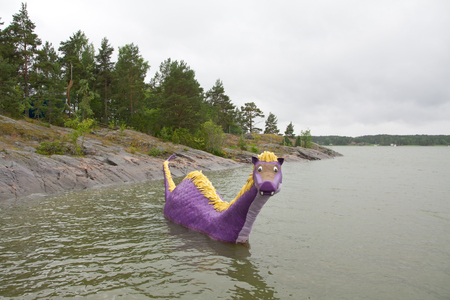 finnish bath: Naantali, Finland - 07 July 2015: Dront Edward in Moominworld