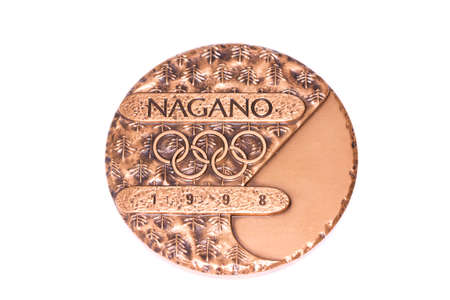 olympic symbol: Nagano 1998 Winter Olympic Games Participation medal obverse Kouvola Finland 06.09.2016