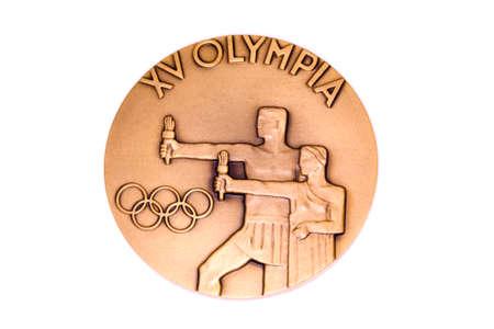 Helsinki 1952 Olympic Games Participation medal reverse Kouvola Finland 06.09.2016
