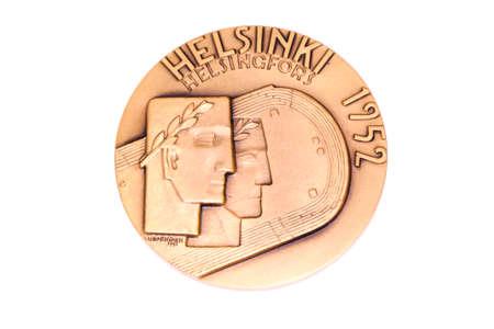 Helsinki 1952 Olympic Games Participation medal obverse Kouvola Finland 06.09.2016