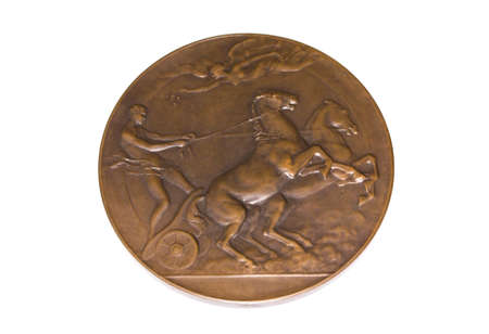 Antwerp 1920 Olympic Games Participation medal reverse Kouvola Finland 06.09.2016 Editorial