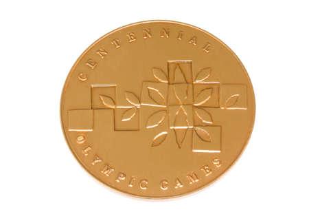 Atlanta 1996 Olympic Games Participation medal reverse Kouvola Finland 06.09.2016 Editorial