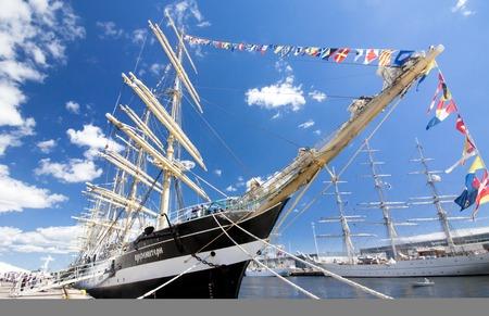 Barque Kruzenshtern in the port of Kotka, Finland. THE TALL SHIPS RACES KOTKA 2017. Kotka, Finland 16.07.2017. Editorial