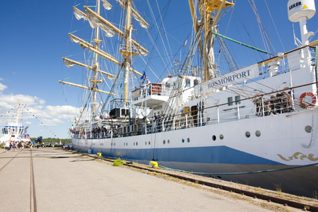 THE TALL SHIPS RACES KOTKA 2017. Kotka, Finland 16.07.2017. Ship Mir in the port of Kotka, Finland Editorial