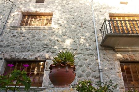 Beautiful building in Valldemossa, famous old mediterranean village of Majorca Spain