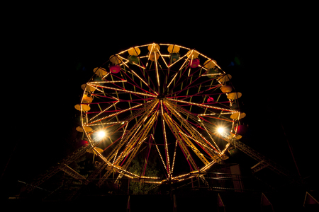 Ferris Wheel illuminated at night in amusement park
