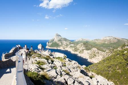 Viewpoint on Cap de Formentor - beautiful coast of Majorca, Spain - Europe 29.06.2017