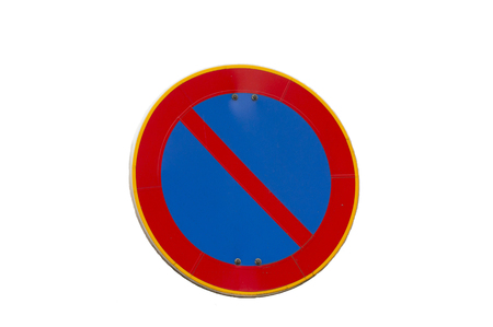 No parking road sign isolated on a white background