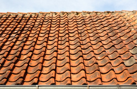 Old town of Odense, Denmark. HC Andersen's hometown. Tile roof. Stock Photo