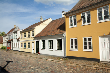Old town of Odense, Denmark. HC Andersen's hometown.