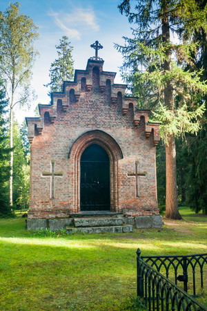 Old chapel at Wrede family cemetery. Anjala, Kouvola, Finland