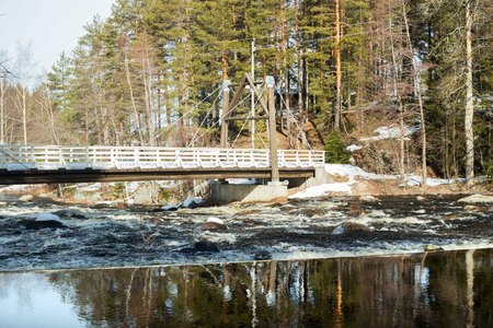 Dam on the river Jokelanjoki, Kouvola, Finland 写真素材