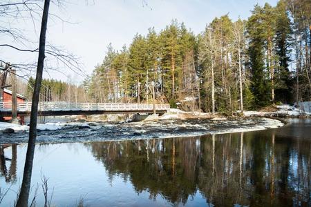 Dam on the river Jokelanjoki, Kouvola, Finland Stockfoto