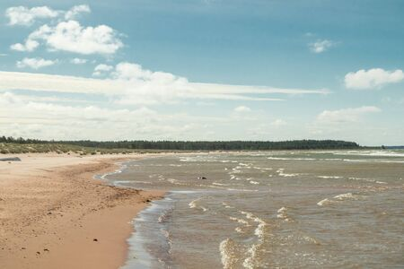Beautiful sandy beach Yyteri at summer, in Pori, Finland