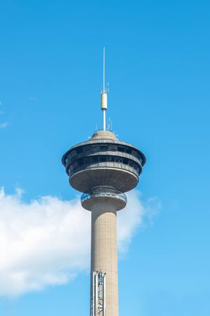 Nasinneula Observation Tower on blue sky background in Tampere city, Finland