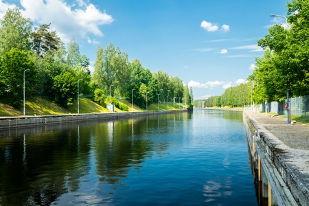 Lappeenranta, Finland - June 20, 2019: The Saimaa Canal at summer.