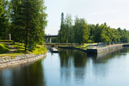 The Saimaa Canal at summer, Lappeenranta, Finland.