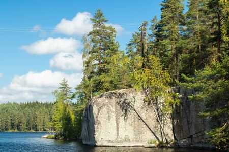 The Verla rock painting in Valkeala, Finland Reklamní fotografie