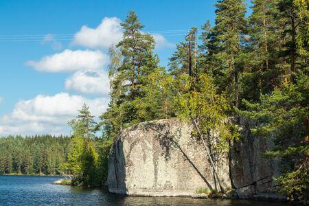 The Verla rock painting in Valkeala, Finland