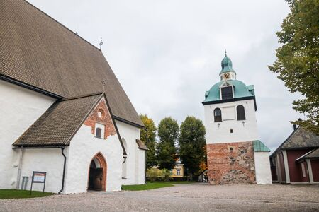 Beautiful view of Porvoo Cathedral at autumn.